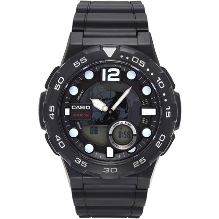 Men's Ana-Digi Dive Style Watch, Black, AEQ100W-1AVCF
