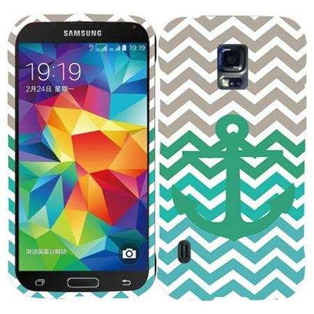 - Grey Chevron Anchor Case for Samsung S5 i9600 Designer Cover Protector Snap on Shield Hard Shell Phone Case