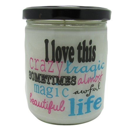 "Star Hollow Candle Company ""I Love this Life."" Buttery Maple Syrup Jar Candle"
