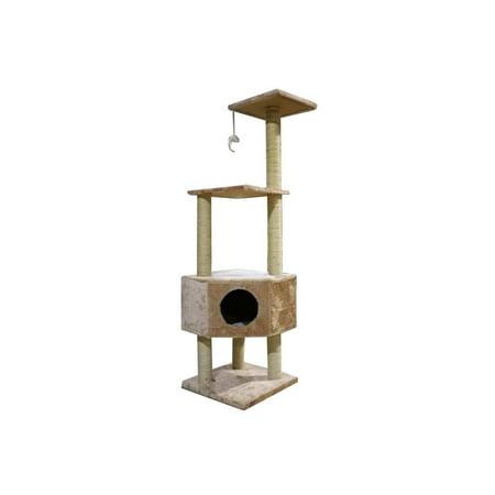 "iPet 51"" Cat Tree Condo Scratching Post Cat Furniture Pet (Best Cat Tracker Uk)"