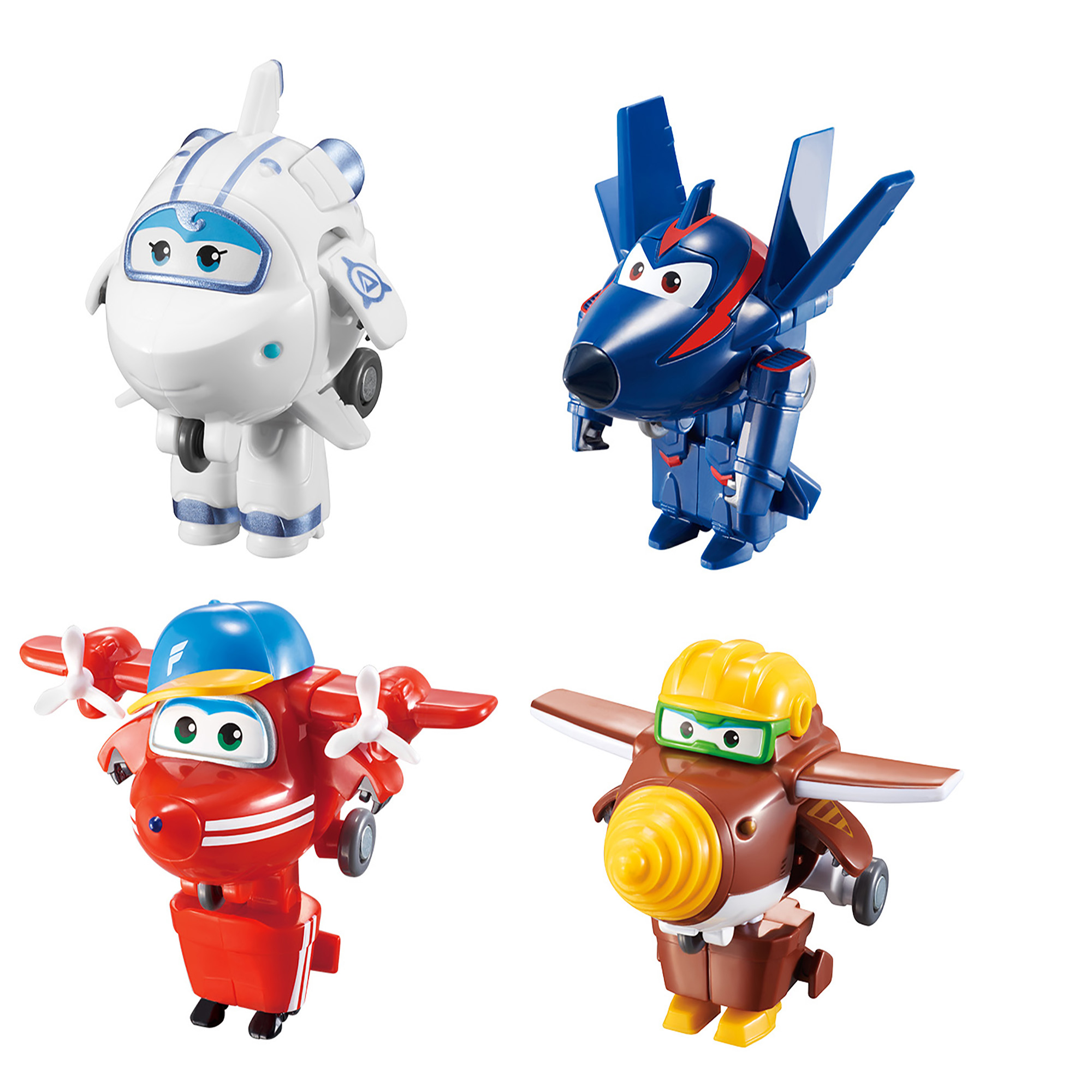 Super Wings Transform-a-Bots (Flip /Todd /Agent Chase/Astra)
