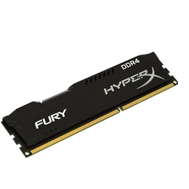 Kingston Memory HX426C15FB/4 4GB DDR4 2600 Unbuffered HyperX Fury Black Retail