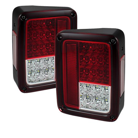 Spyder Jeep Wrangler 07 16 Led Tail Lights Red Clear