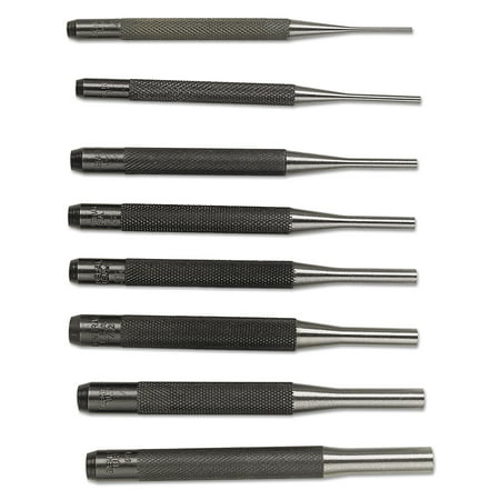 General Tools 8 Pc. Drive Pin Punch Sets, Round, English, Plastic Case (Punch 75)