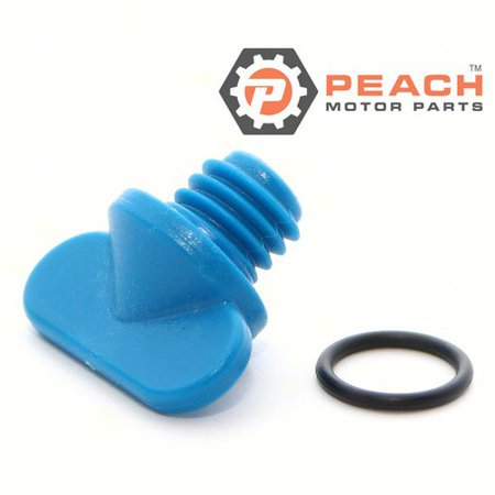Peach Motor Parts PM-22-806608A02  PM-22-806608A02 Drain Screw, Exhaust Manifold & Engine Block; Replaces Mercury Marine®: 22-806608A02, 22-806608A1, 22-806608A 1,  22-8M0119211, Mercruiser®: -