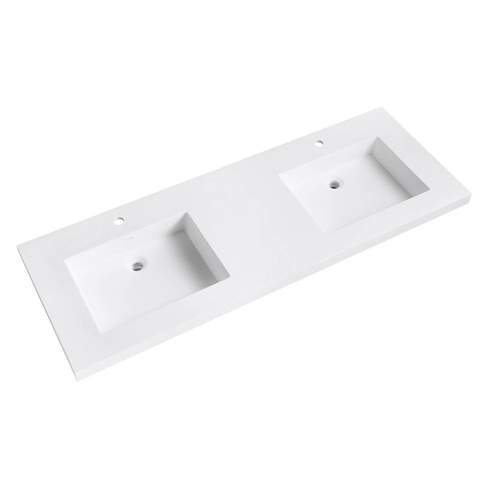 Superieur Avanity VersaStone 61 In. Acrylic Double Sink Vanity Top With Integrated  Sinks   Walmart.com