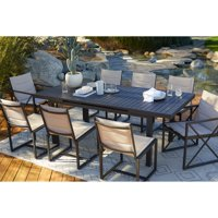 Coral Coast Carano Padded Sling Outdoor Side Armless Dining Chair - Set of 2