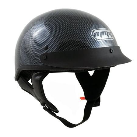 Motorcycle Half Helmet Cruiser DOT Street Legal - Carbon Fiber (Large) ()