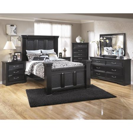 User friendly Signature Design Ashley Cavallino Black Poster Bed Black Poster Bed Recommended Item