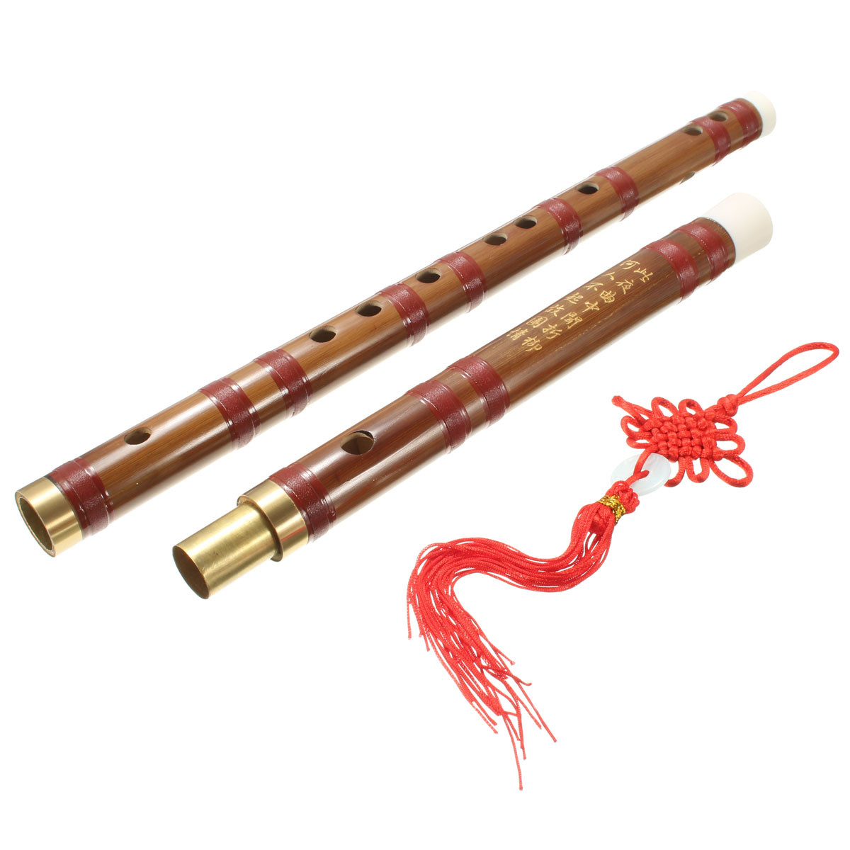 61MM Handmade D Key Chinese Musical Instrument Bamboo Flute +Membrane+ Knot+ Bag Gift