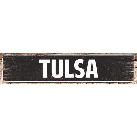 TULSA Street Plate Sign Bar Store Shop Cafe Home Kitchen Chic Decor 4180072 - Halloween Store Tulsa