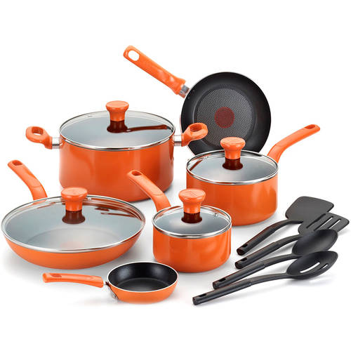 non stick cookware t fal 14 excite non stick cookware set walmart 31008