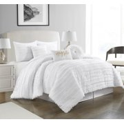 Nanshing Dessy 7-Piece Comforter Set, Queen, White