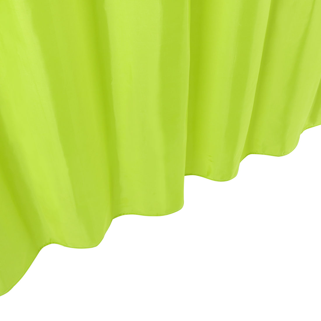 Solid Color Polyester Fabric Shower Curtain with Hooks Green 72 x 78 Inch - image 7 of 8