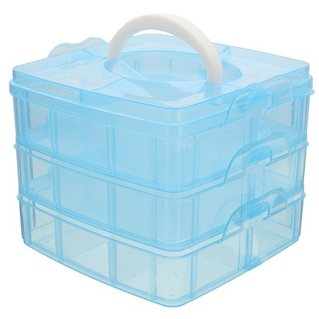 Jewelry Box Craft - 3 layers Clear Jewelry Bead Storage Box Container Organizer Case Craft Tool