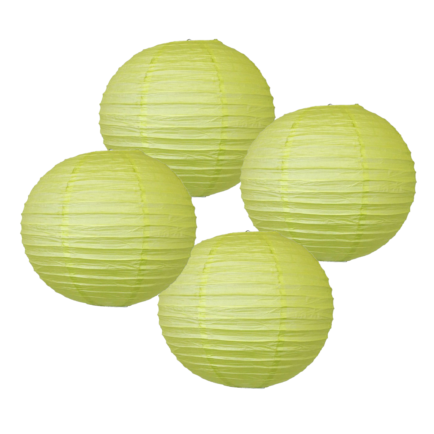 "20"" Pistachio Green Chinese Japanese Paper Lanterns (Set of 4) - Decorative Round Chinese/Japanese Paper Lanterns for Birthday Parties, Weddings, Baby Showers, and Life Celebrations!"