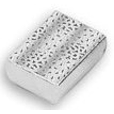 """JSP®Cotton Filled Jewelry Gift Box Lot of 12 Silver Foil (3 1/4"""" X 2 1/4"""" X 1"""")"""