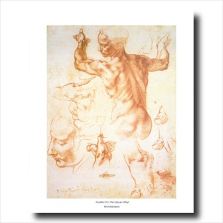 Michelangelo The Human Body Wall Picture Art Print