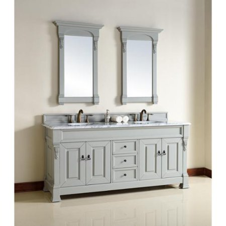 James martin furniture 72 inch grey double sink vanity - Walmart bathroom vanities with sink ...