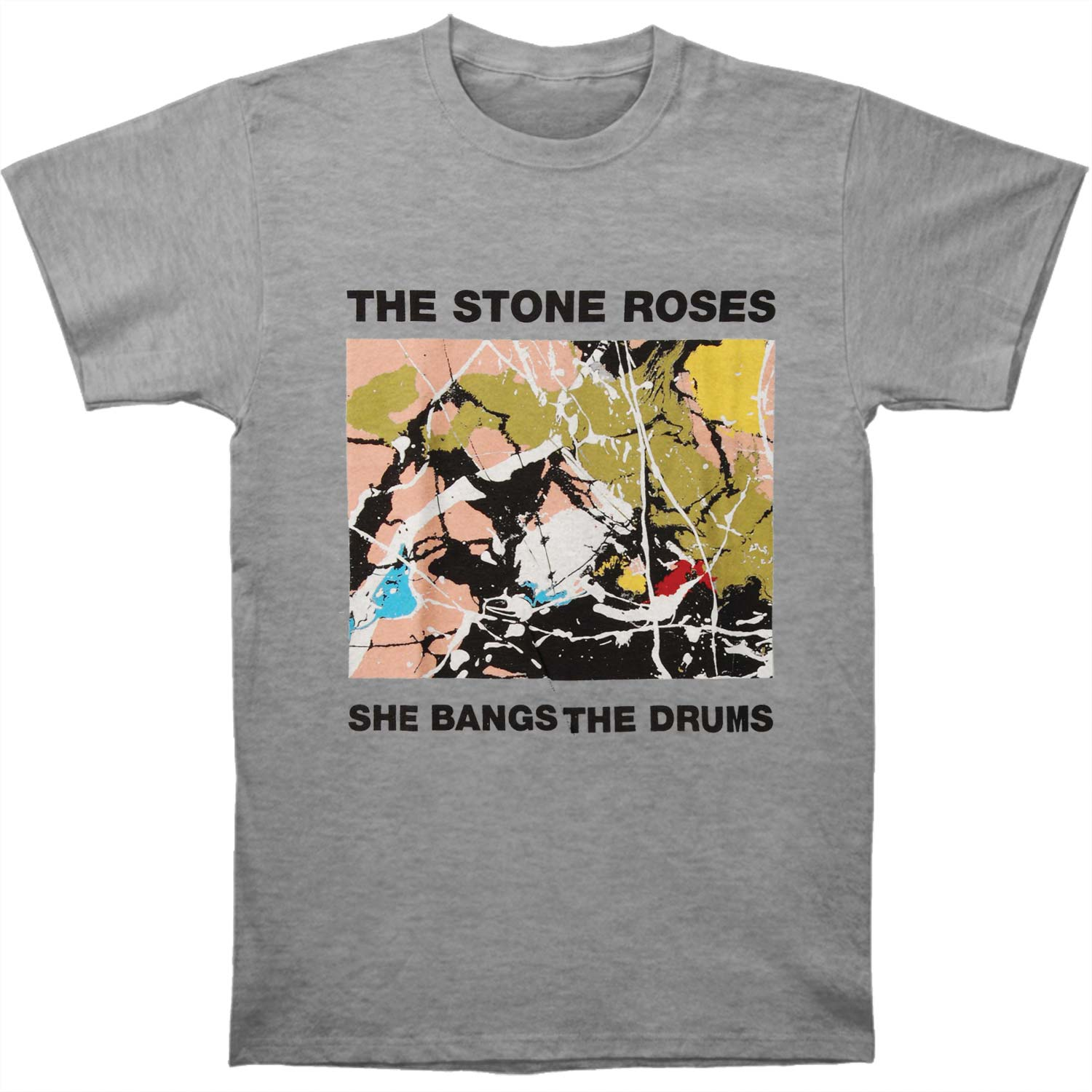 Stone Roses Men's  She Bangs The Drums T-shirt Grey