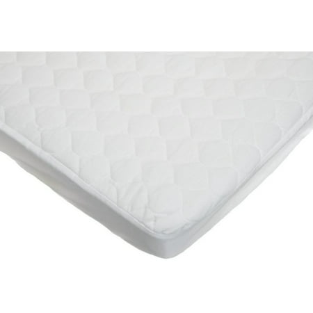 American Baby Company Waterproof Fitted Quilted Cradle Mattress Pad Cover, White (Cradle Mattress Pad)