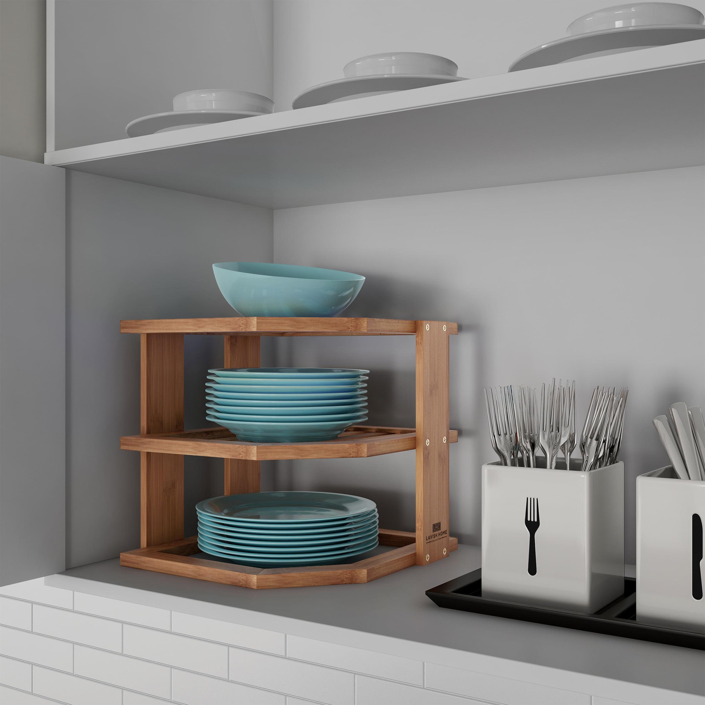 Cookware Dining Bar 3 Tier Bamboo Corner Shelf Kitchen Plates Rack Cupboard Organiser Unit Bathroom Kisetsu System Co Jp