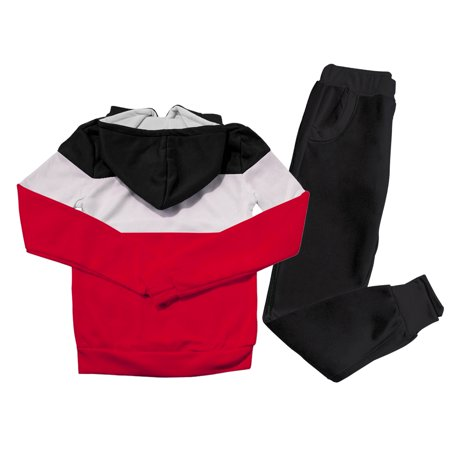 Casual Two-Piece Sportswear Sweatshirt Tracksuit for Women, Women's Long Sleeve Sportswear Tracksuit Sets Tops with Sweatpants, Black S