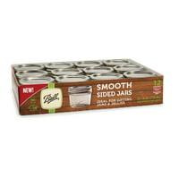Ball Smooth Sided Regular Mouth Glass Mason Jars, 4 oz, 12 Count
