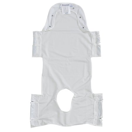 Deep Pocket Arm Sling - Drive Medical Patient Lift Sling with Head Support and Insert Pocket with Commode Opening