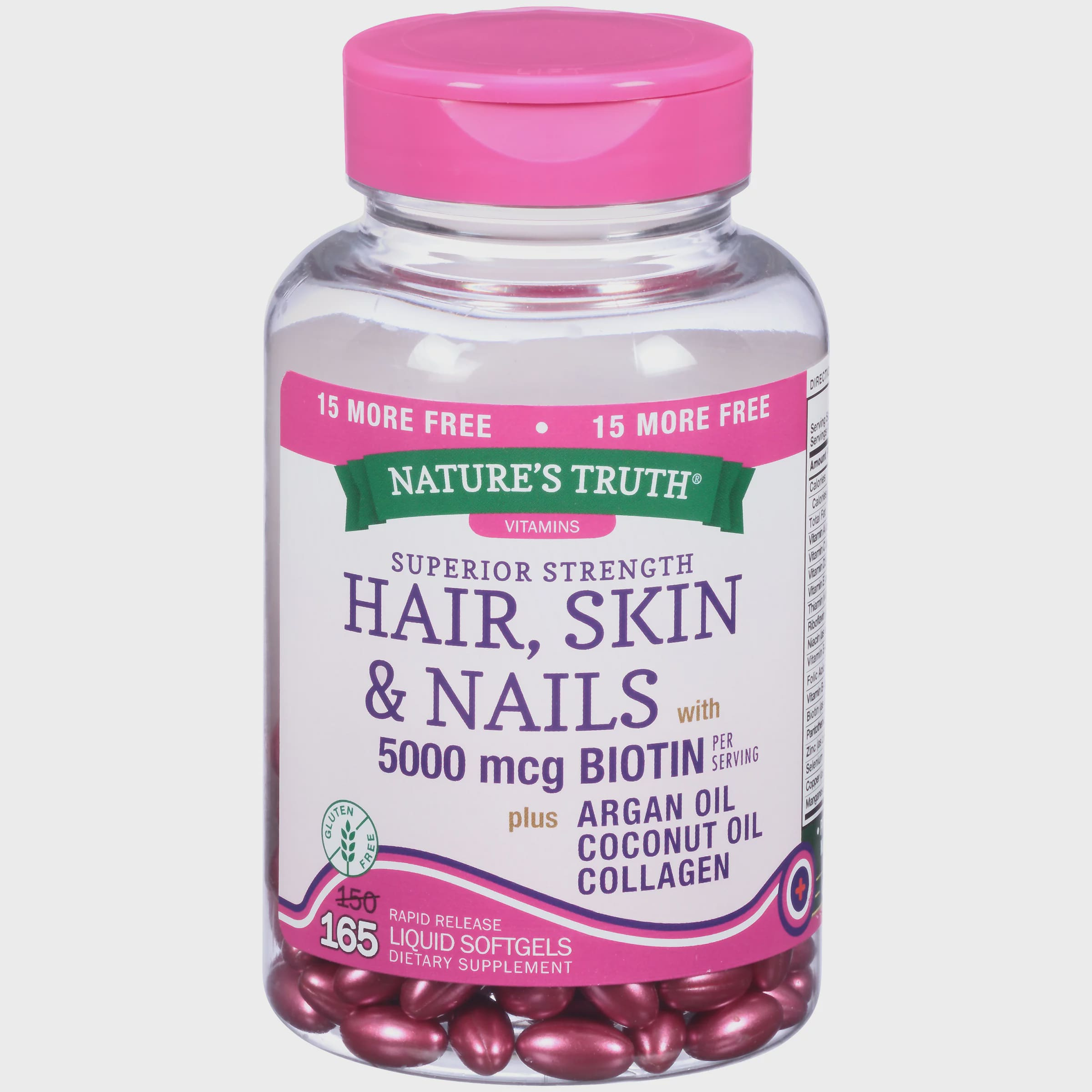 Nature\'s Truth® Superior Strength Hair Skin & Nails with 5000mcg ...