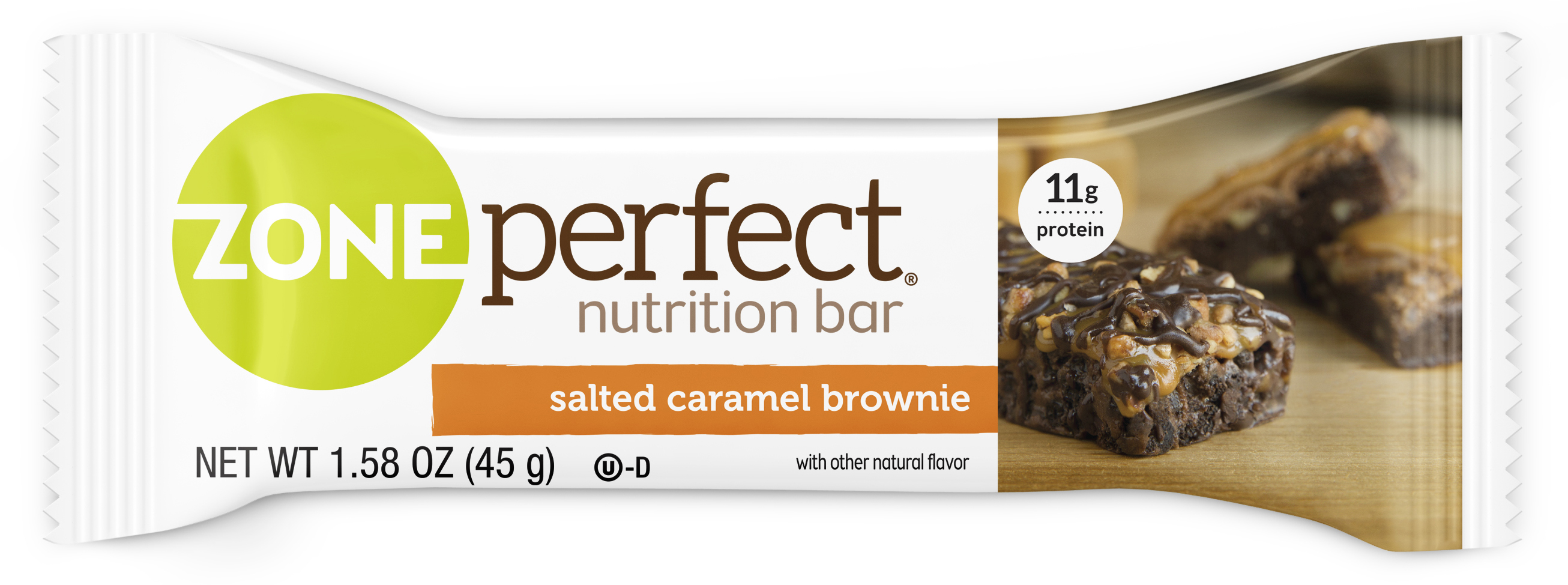 ZonePerfect Nutrition Bar, Salted Caramel Brownie, 11g Protein, 12 Ct by Abbott Laboratories,ABBN7