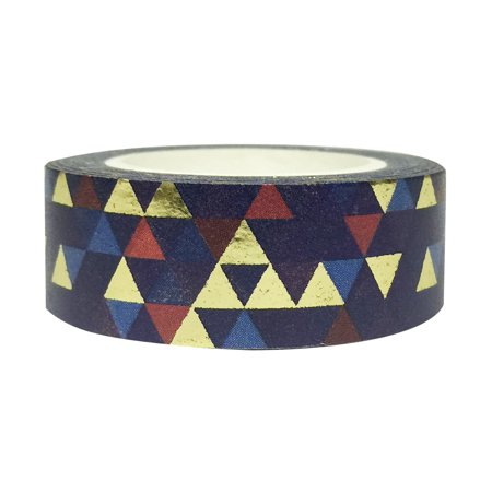 Wrapables® Colorful Washi Masking Tape, Mystery Magic Vector Triangles - Colorful Tape