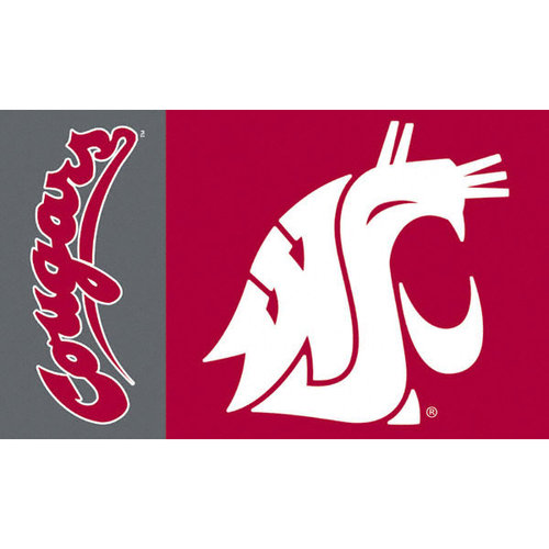 NCAA - Washington State Cougars 3x5 Flag