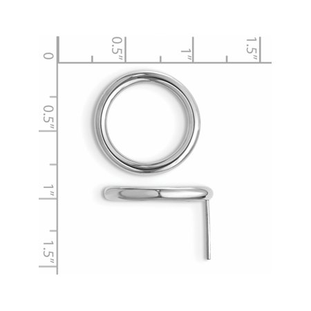 Leslie's 14K White Circle Post Earrings (20x19) - image 2 of 3