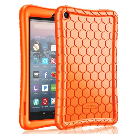 Silicone Case for Fire 7 Tablet (9th Generation, 2019 Release) - Fintie Kids Friendly Anti Slip Shock Proof Cover,