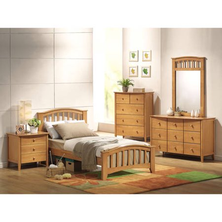 San Marino Twin Bed, Maple - Combo Maple Bed