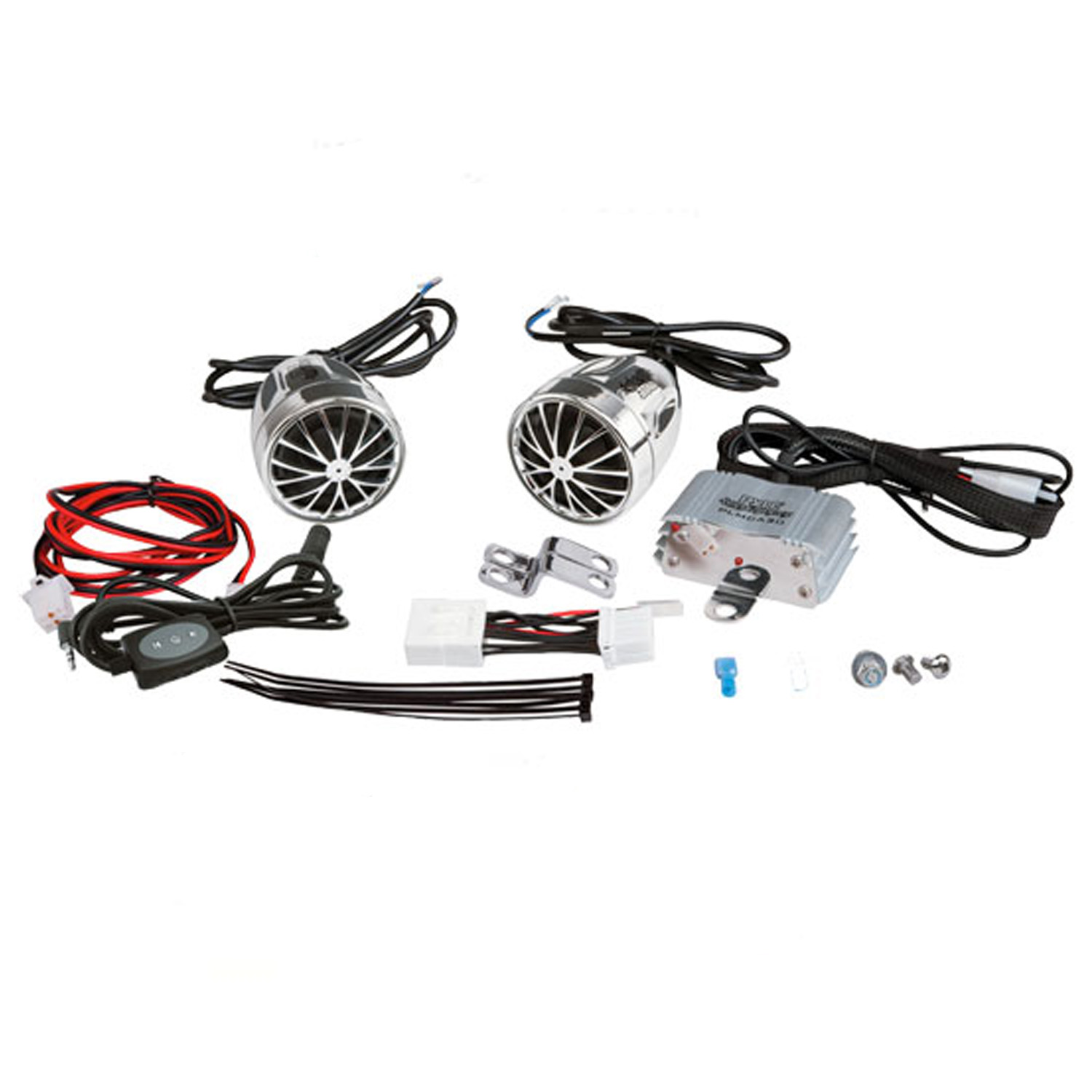 PYLE PLMCA31BT - 400-Watt Motorcycle Weatherproof Bluetooth Sound System with Speakers, Amplifier and 3.5mm iPod Input