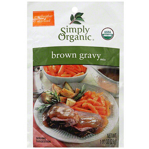 Simply Organic Brown Gravy Mix, 0.9 oz (Pack of 12)