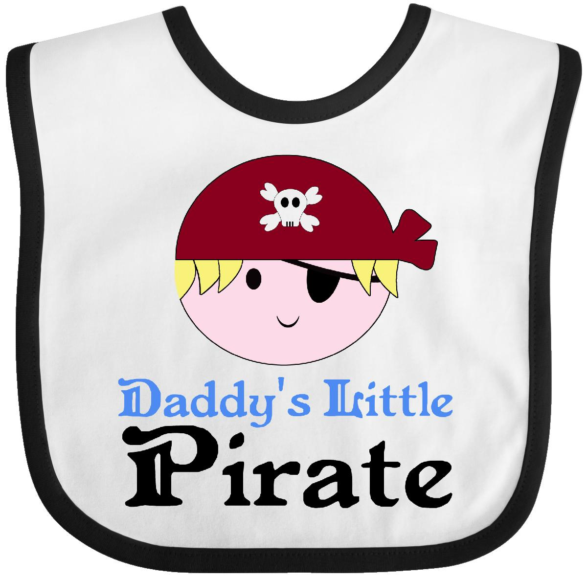 Inktastic Little Pirate Boy Baby Bib kids cute daddys captain skull and crossbones funny gift clothing infant hws