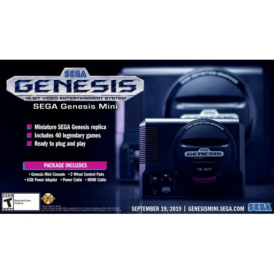 Sega Genesis Mini, Sega, Universal, Black, SG-10037-2