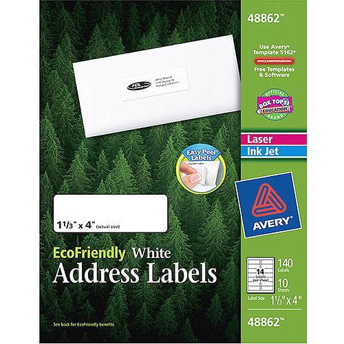 Avery Eco White Address Label 140ct