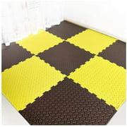 Foam Puzzle Floor Tiles Soft High Elasticity PE Protection Safety Bedroom 3 Colors Multiple Sizes (Color : A Size : 60x60x1.2cm-9pcs)