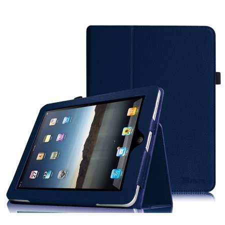 Fintie Apple iPad 1st Generation Folio Case - Slim Fit Vegan Leather Stand Cover with Stylus Holder - Navy ()