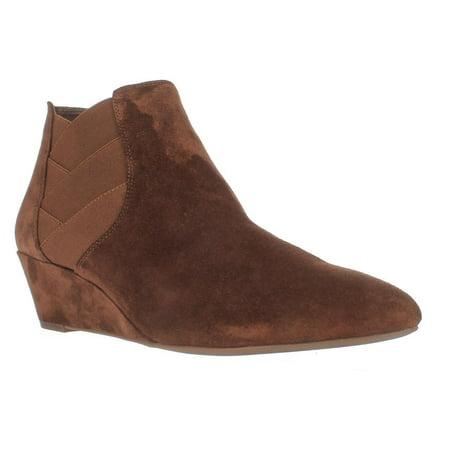 - Womens Via Spiga Harlie Woven Ankle Booties, Chestnut