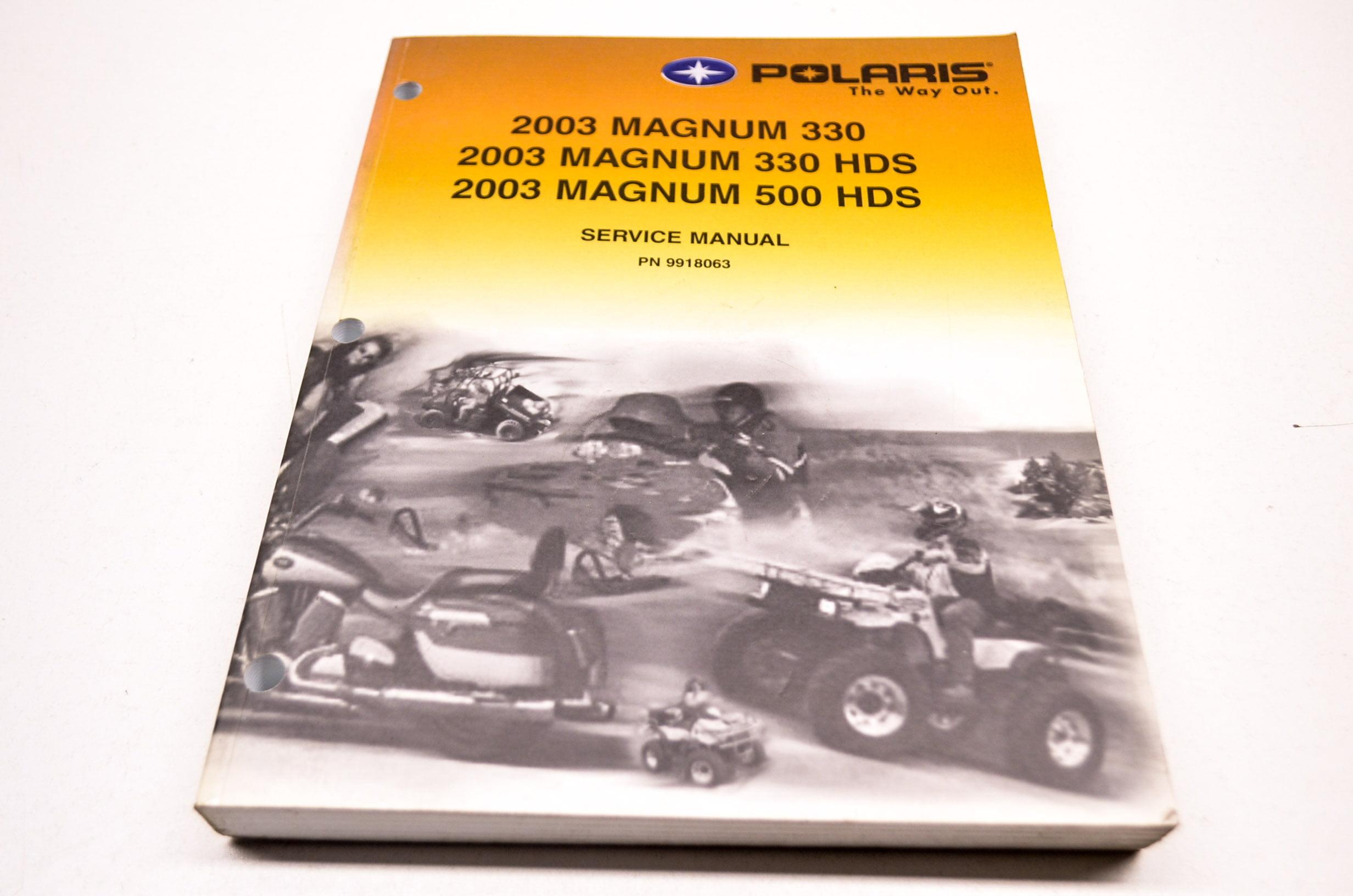 Polaris 9918063 2003 Magnum 330 500 HDS Service Manual QTY 1 - Walmart.com