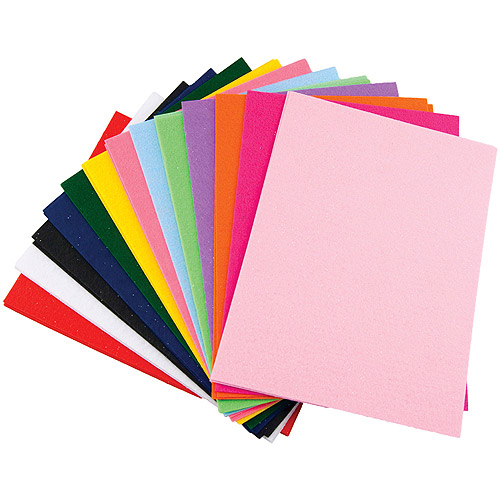 "Glimmer EZ Felt, 9"" x 12"", 25/pkg, Assorted Colors"