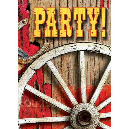 Western Hoedown Invitations, 8-Count