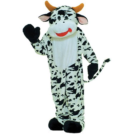 Moo Cow Mascot Adult Halloween Costume
