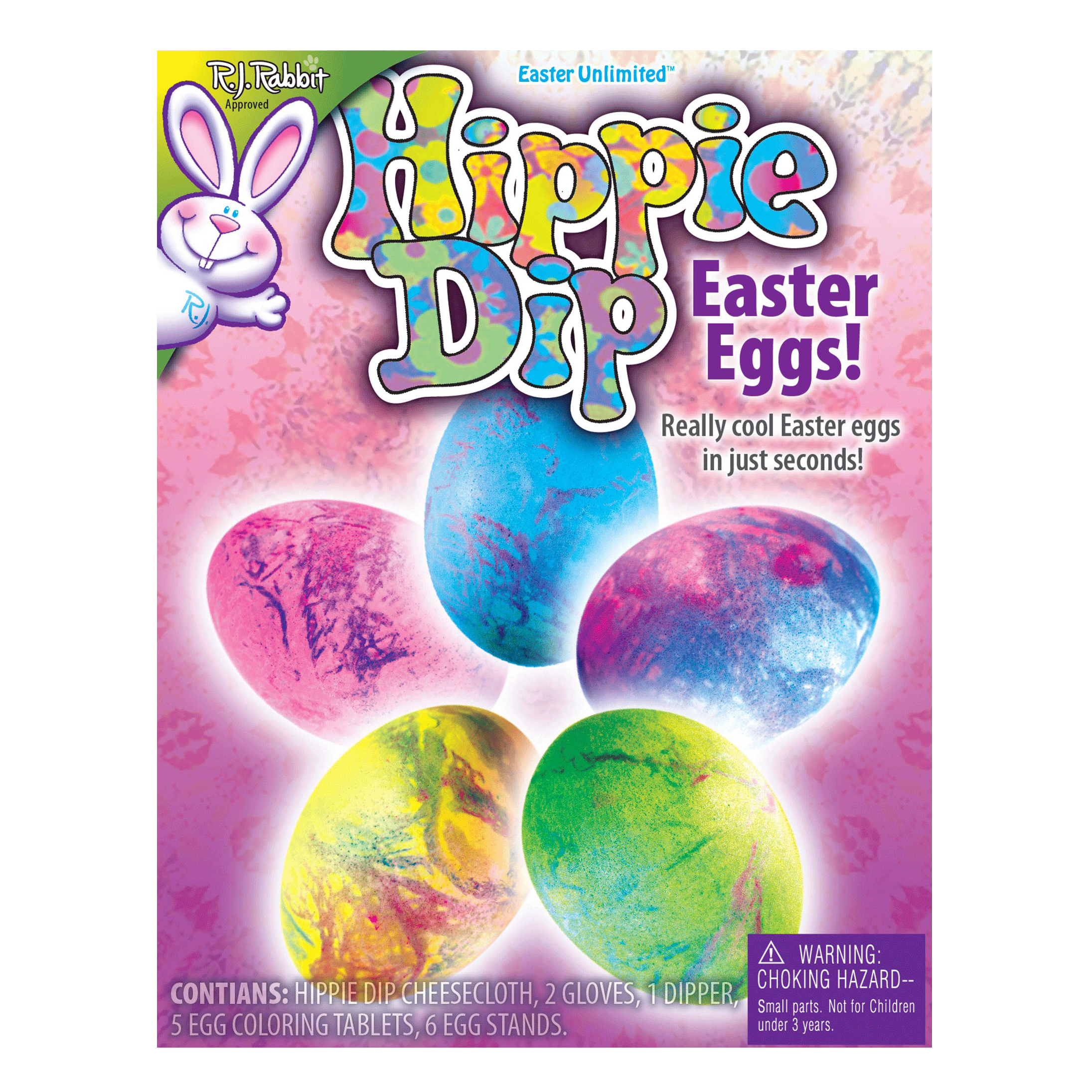 """Easter Unlimited Hippie Dips Easter Eggs Deco Supply 20pc 9"""" Egg Decorating Kit"""