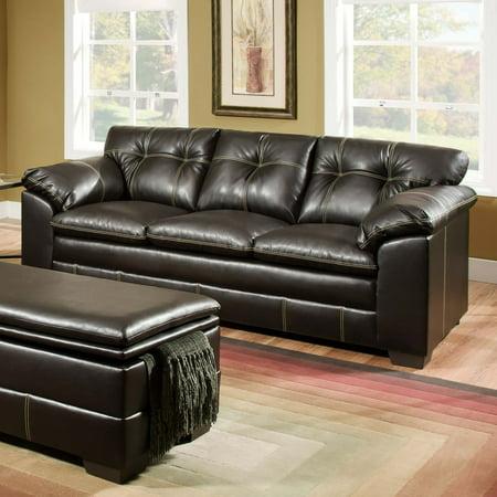 Simmons Upholstery Premier Bonded Leather Sofa Walmart Com